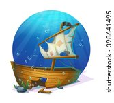 Undersea World. Old Pirate Shi...