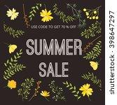 summer sale banner  sale poster ... | Shutterstock .eps vector #398647297