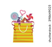 party favor goodie bag with... | Shutterstock .eps vector #398649025