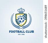 football club logo vector logo... | Shutterstock .eps vector #398651689