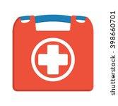 first aid kit box flat object....