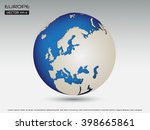 europe globe. earth globe... | Shutterstock .eps vector #398665861