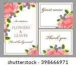 romantic invitation. wedding ... | Shutterstock . vector #398666971