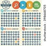 big icons website arrows... | Shutterstock .eps vector #398668705