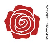romantic red rose flower or... | Shutterstock .eps vector #398669647