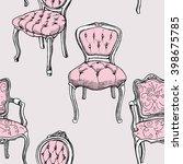 seamless pattern of pink...   Shutterstock .eps vector #398675785