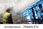 engineering man working on... | Shutterstock . vector #398681551