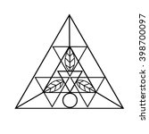 sacred geometric icon. logo... | Shutterstock .eps vector #398700097