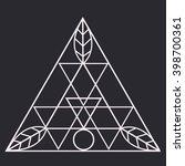 sacred geometric icon. logo... | Shutterstock .eps vector #398700361