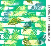 floral pattern. tropical palm... | Shutterstock .eps vector #398700799