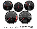 set of dashboard measuring...   Shutterstock .eps vector #398702389