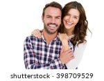 portrait of young couple... | Shutterstock . vector #398709529
