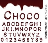 chocolate alphabet with numbers | Shutterstock .eps vector #398710411
