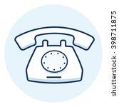 desk phone icon | Shutterstock .eps vector #398711875