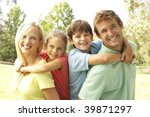 mother and father giving... | Shutterstock . vector #39871297
