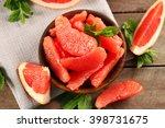 Juicy Grapefruit Pieces With...