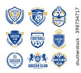 set of soccer football logo... | Shutterstock .eps vector #398734717
