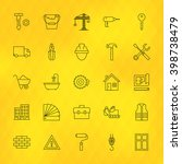 construction tools line icons... | Shutterstock .eps vector #398738479