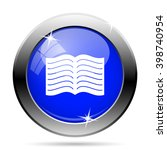 book icon. internet button on... | Shutterstock .eps vector #398740954