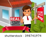 real estate concept. real... | Shutterstock .eps vector #398741974