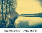 beautiful lake landscape with... | Shutterstock . vector #398745511