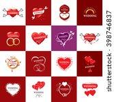 vector logo wedding | Shutterstock .eps vector #398746837