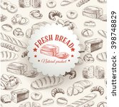 bakery retro background.... | Shutterstock . vector #398748829