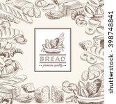 bakery retro background.... | Shutterstock . vector #398748841