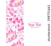 vector lotuses flowers vertical ... | Shutterstock .eps vector #398751661