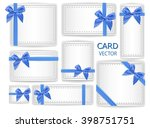 set of holiday present gift... | Shutterstock .eps vector #398751751