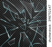 realistic shards of transparent ... | Shutterstock .eps vector #398752147