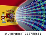 national flag of spain with a... | Shutterstock . vector #398755651