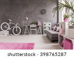 spacious interior in grey and... | Shutterstock . vector #398765287