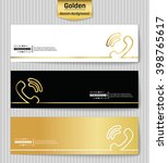 abstract creative concept gold... | Shutterstock .eps vector #398765617