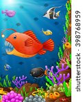 illustration of under the sea | Shutterstock .eps vector #398768959