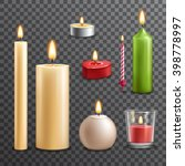 Candles Realistic 3d Set...