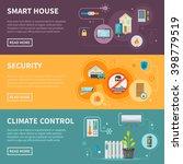 smart house horizontal banners... | Shutterstock .eps vector #398779519