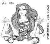 zodiac. vector illustration of... | Shutterstock .eps vector #398780029
