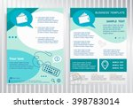 wallet icon on vector brochure. ... | Shutterstock .eps vector #398783014