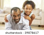 grandfather and granddaughter... | Shutterstock . vector #39878617