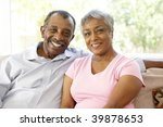 senior couple relaxing at home... | Shutterstock . vector #39878653