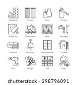 a set of thin line icons for... | Shutterstock .eps vector #398796091