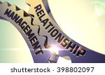 relationship management golden... | Shutterstock . vector #398802097