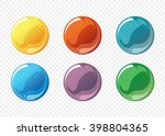 cartoon soap bubble set. circle ... | Shutterstock .eps vector #398804365