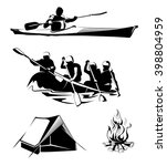 elements for outdoor camping... | Shutterstock .eps vector #398804959