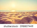 beautiful beach sand and sea at ... | Shutterstock . vector #398807449