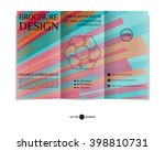 colorful tri fold brochure... | Shutterstock .eps vector #398810731