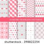 ten different seamless patterns ... | Shutterstock .eps vector #398822254
