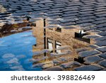 cobblestone with reflection of... | Shutterstock . vector #398826469