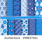 set of easter vector paper with ... | Shutterstock .eps vector #398837461